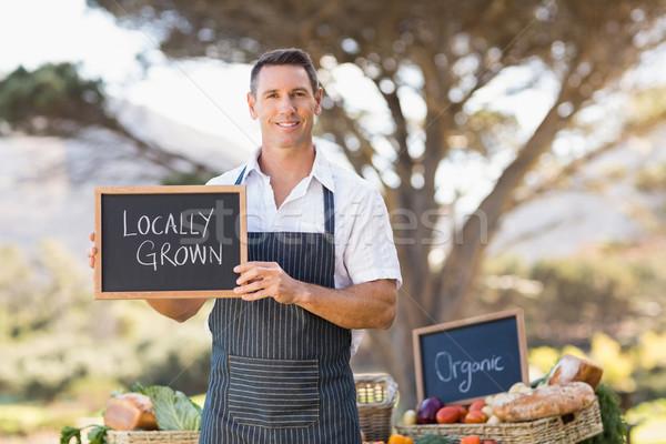 笑みを浮かべて 農家 成長した にログイン 肖像 ストックフォト © wavebreak_media