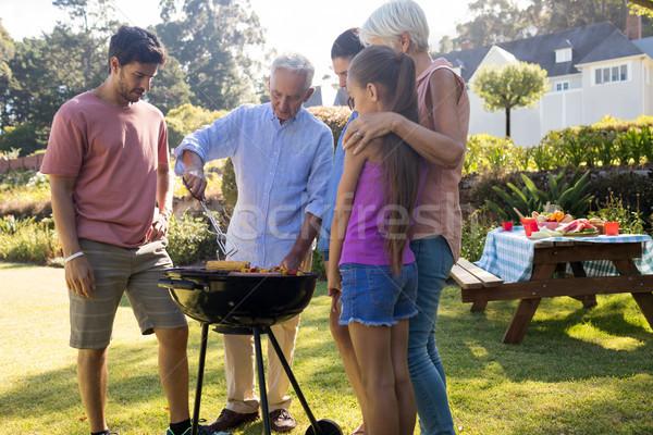 Family preparing barbecue in the park Stock photo © wavebreak_media