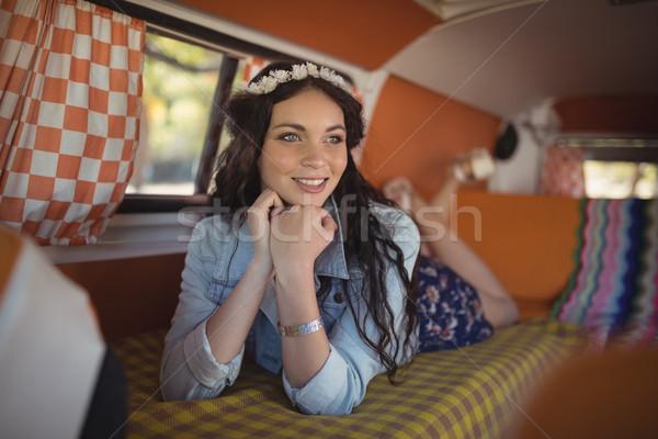 Vrouw van jonge vrouw technologie Stockfoto © wavebreak_media