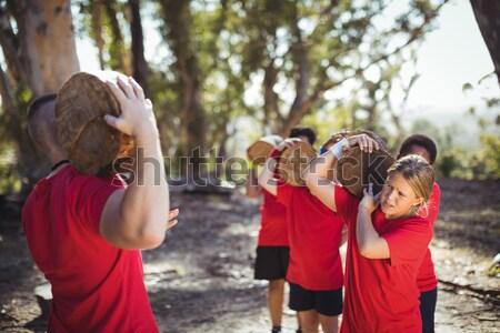 тренер дети стороны загрузка лагерь Сток-фото © wavebreak_media