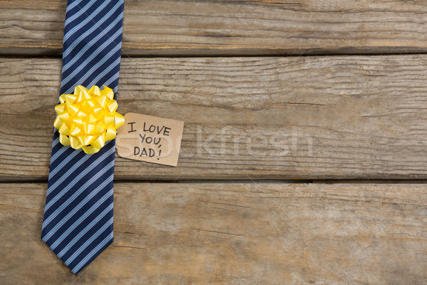 High angle view of necktie with greetings Stock photo © wavebreak_media
