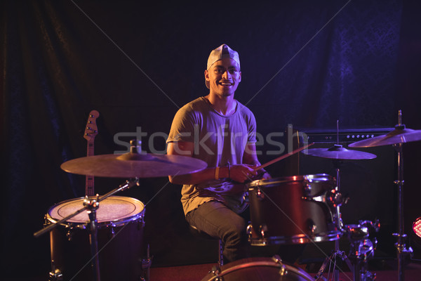 Male drummer performing in nightclub Stock photo © wavebreak_media