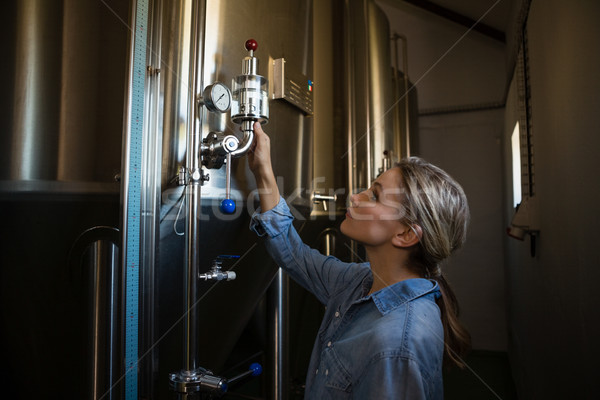 ワーカー 調べる ストレージ タンク 女性 醸造所 ストックフォト © wavebreak_media