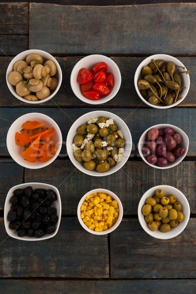 Voedsel houten tafel vruchten tabel Stockfoto © wavebreak_media