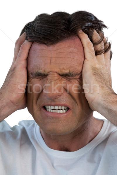 Dojrzały cierpienie głowy biały Zdjęcia stock © wavebreak_media