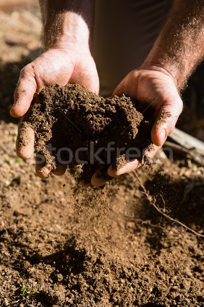 Man bodem tuin business Stockfoto © wavebreak_media
