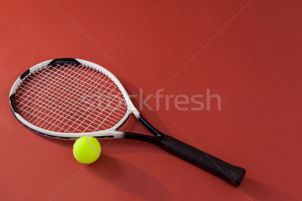 Tennisracket tl Geel bal Stockfoto © wavebreak_media