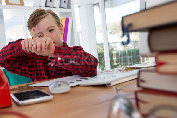 Boy as business executive playing Stock photo © wavebreak_media