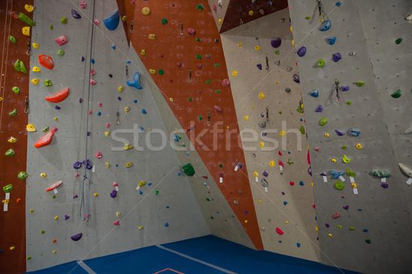 Escalada parede ginásio colorido esportes fitness Foto stock © wavebreak_media