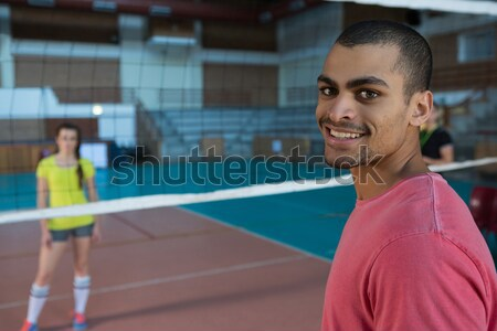 Coach holding clipboard at volleyball court Stock photo © wavebreak_media