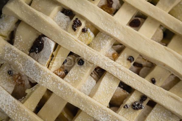 Full frame shot of apple pie in baking pan Stock photo © wavebreak_media