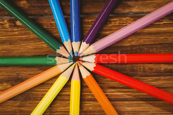 Colour pencils on desk in circle shape Stock photo © wavebreak_media