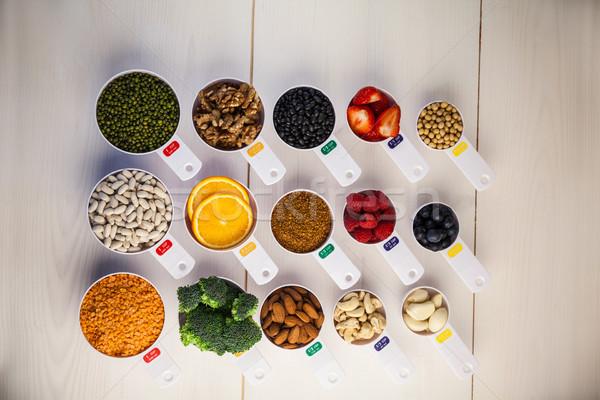 Portion cups of healthy ingredients Stock photo © wavebreak_media