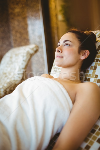 Femme détente couché spa visage heureux Photo stock © wavebreak_media