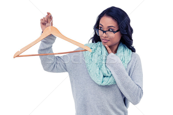 Asian femme bois cintre blanche Photo stock © wavebreak_media