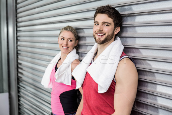 Atleet mensen poseren samen crossfit gymnasium Stockfoto © wavebreak_media