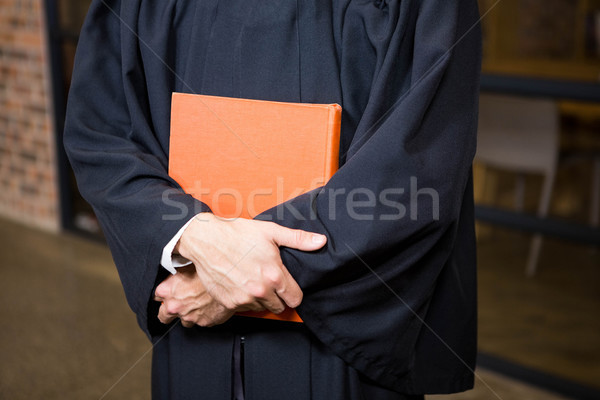 ügyvéd tart törvény könyv iroda férfi Stock fotó © wavebreak_media