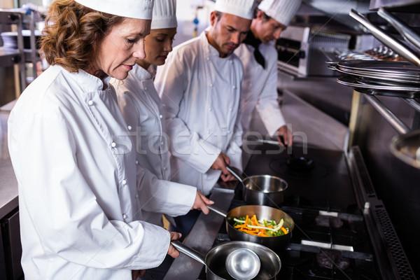 Повара кухне ресторан человека команда Сток-фото © wavebreak_media