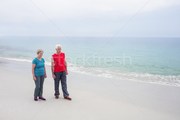 Permanente strand vrouw liefde Stockfoto © wavebreak_media
