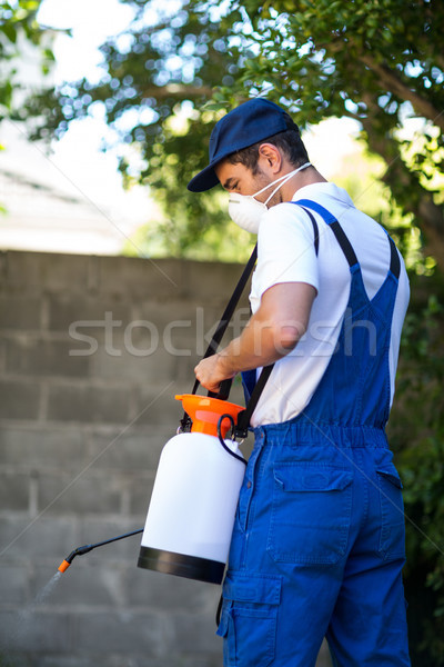 Achteraanzicht Maakt een reservekopie man industrie werken veiligheid Stockfoto © wavebreak_media