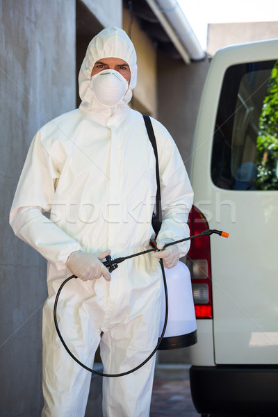 Pest control man standing behind a van Stock photo © wavebreak_media