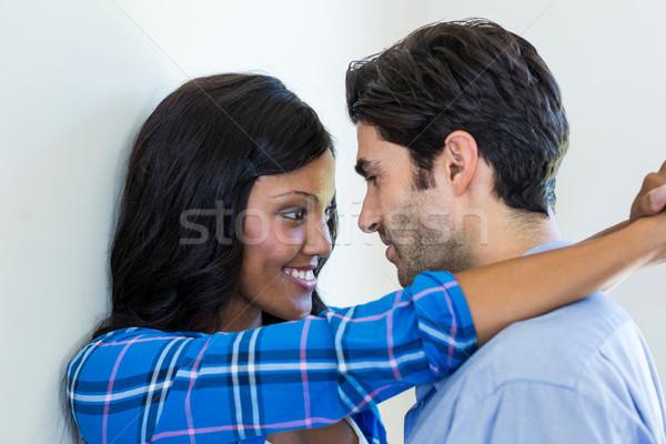 Fiatal pér átkarol egyéb otthon szeretet férfi Stock fotó © wavebreak_media