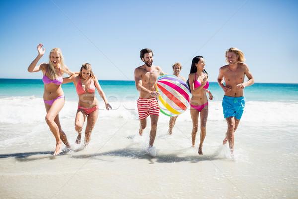 Friends having fun at the beach Stock photo © wavebreak_media
