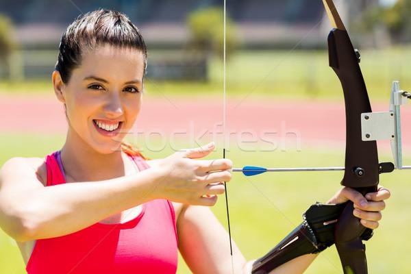 女性 選手 アーチェリー 肖像 スタジアム ストックフォト © wavebreak_media