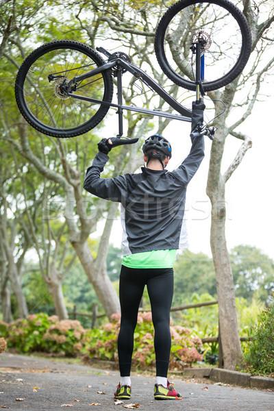 Masculino ciclista mountain bike parque Foto stock © wavebreak_media