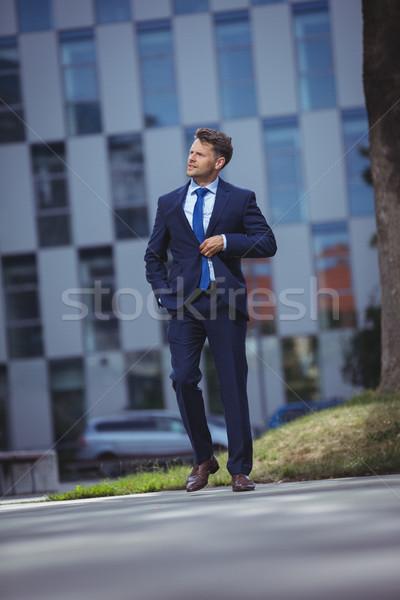 Işadamı yürüyüş yol sevmek adam Stok fotoğraf © wavebreak_media