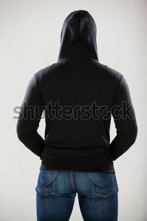 Espião em pé branco diversão bola Foto stock © wavebreak_media