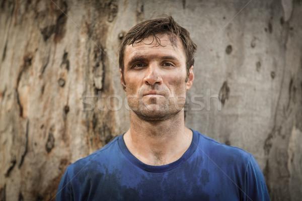 Portrait déterminé homme permanent fitness Photo stock © wavebreak_media