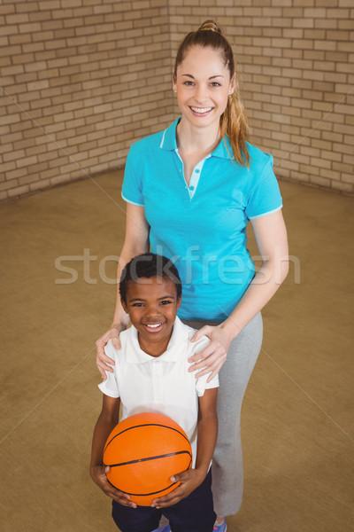 Student koszykówki nauczyciel kobieta szczęśliwy Zdjęcia stock © wavebreak_media