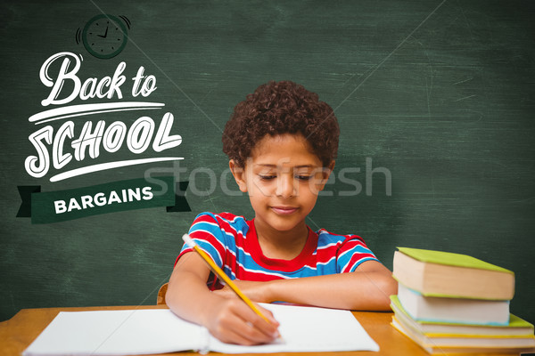 összetett kép asztal iskola gyermek zöld Stock fotó © wavebreak_media