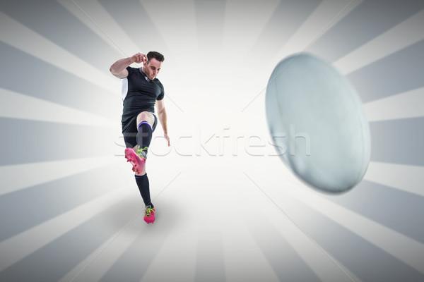 Afbeelding rugby speler lineair Stockfoto © wavebreak_media