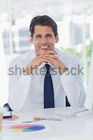Portret charyzmatyczny mężczyzna wykonawczej biuro działalności Zdjęcia stock © wavebreak_media