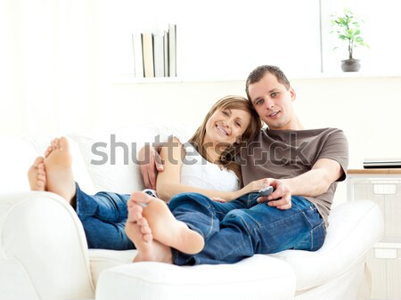 Adorable couple relaxing together Stock photo © wavebreak_media