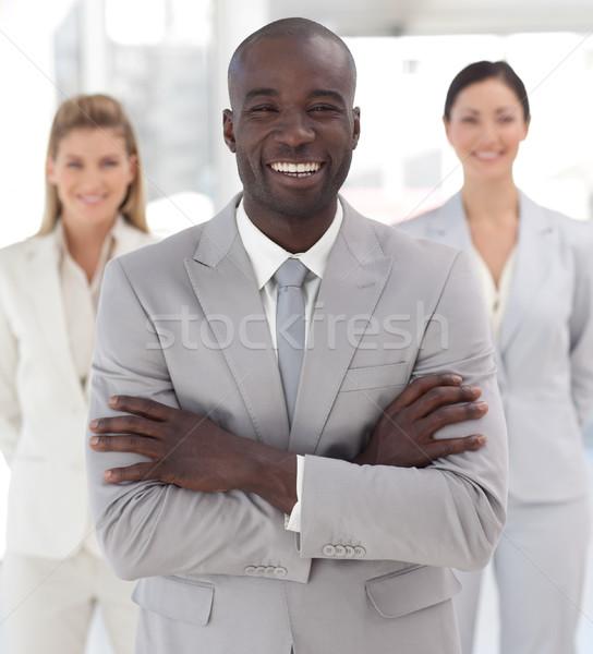 Pozytywny kierownik zespołu biuro człowiek pracy Zdjęcia stock © wavebreak_media
