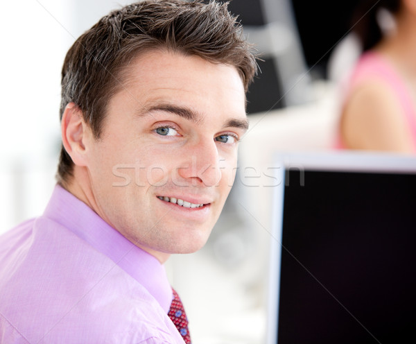 Portrait of an assertive businessman looking at the camera in the office Stock photo © wavebreak_media