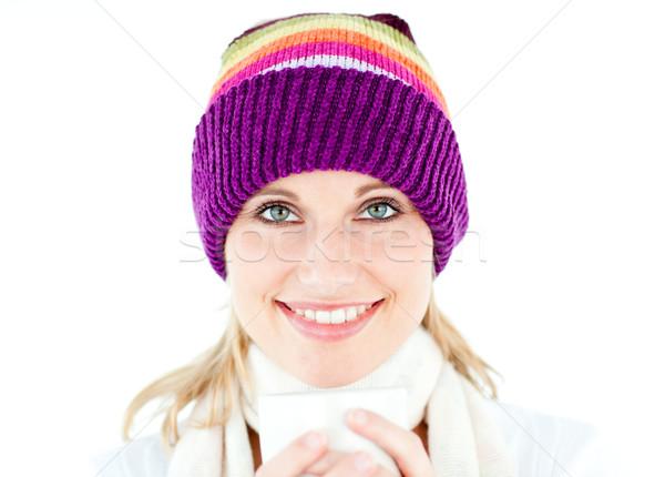 女子 白 毛線衣 商業照片 © wavebreak_media