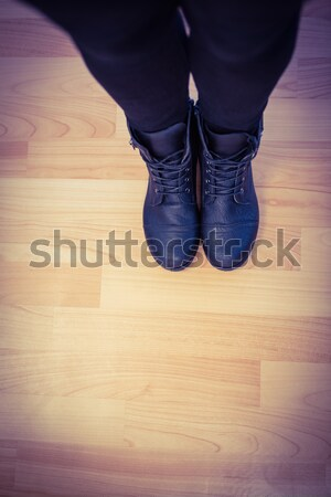 Close-up of a talented ballerina on tiptoe Stock photo © wavebreak_media