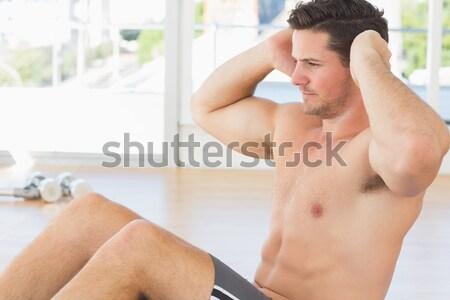 かわいい 白人 男 準備 剃る バス ストックフォト © wavebreak_media