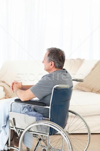 Aposentados homem cadeira de rodas casa médico saúde Foto stock © wavebreak_media