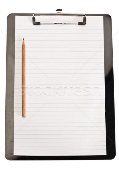 Lápiz nota blanco libro madera diseno Foto stock © wavebreak_media