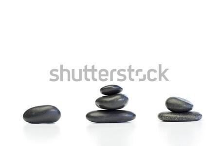 Felfelé kavicsok fehér terv levél egészség Stock fotó © wavebreak_media