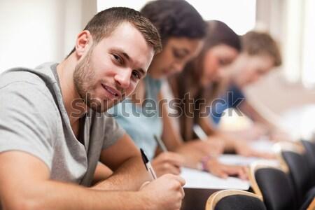 серьезный студентов сидят амфитеатр студент Сток-фото © wavebreak_media