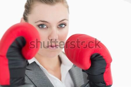 Kobiet bokser biały sportu ciało fitness Zdjęcia stock © wavebreak_media