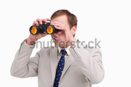 Empresário espião óculos branco homem fundo Foto stock © wavebreak_media
