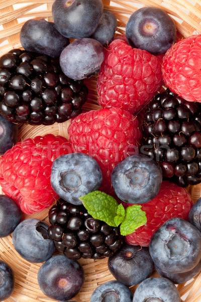 Berries in a basket in a high angle view Stock photo © wavebreak_media