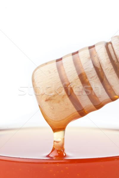 Közelkép méz felső tál fehér étel Stock fotó © wavebreak_media